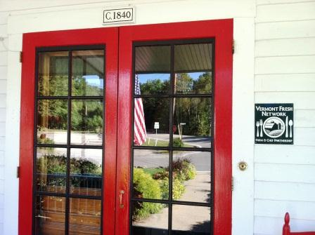 Echo Lake Inn Front Door; Circa 1840 sign