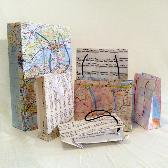bags made from maps
